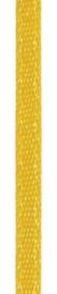 006302/0206- 4.5 meter satijnlint van 10mm breed op een rol maisgeel