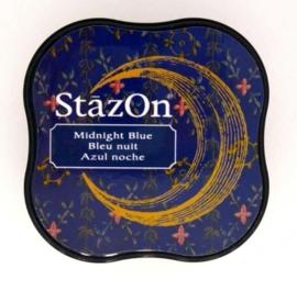 CE132021/4062- Stazon inktkussen midi midnight blue SZ-MID-62