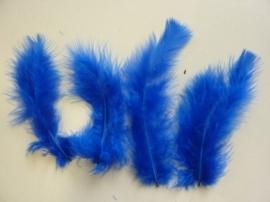 CE800804/2804- 15 stuks Marabou veren kobaltblauw van 7 tot 14cm