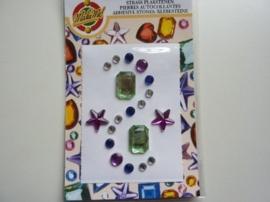 00262- zelfklevende strass steentjes (zijn ook los per stuk te gebruiken) OPRUIMING
