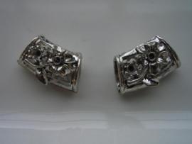 2 x metalen kralen 12028-0031