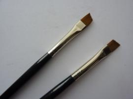 PS221- Royal Knight langnickel nylon penseel plat schuin -1/4-