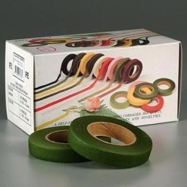 2404 486 - rol ouderwetse topkwaliteit bloemencrepeband midden groen