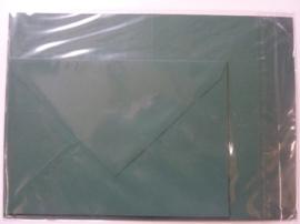 008212- 3 x A4 formaat kaarten gerild + 3 x enveloppen A5 formaat d.groen OPRUIMING -50%