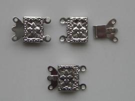 12092/9205- sierluiting voor 2 rijen 9x14.5mm staalkleur