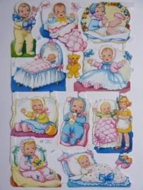 """p0015040- nostalgisch pöezie plaatje """"kinderen"""" 24x15cm"""