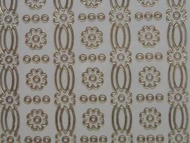 st638- diverse brede randjes wit/goud 10x20cm