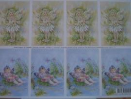 kn/124- A4 knipvel AANBIEDING fairy poppets 13