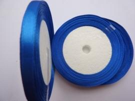 rol met 22.86 meter kobalt blauw satijnlint van 6mm breed OPRUIMING