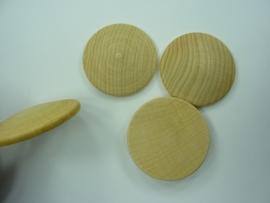 SLK.221- 3 stuks houten buttons van 4cm