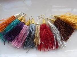 CH.001.M- 10 stuks decoratie kwastjes van 60mm kleurenmix - SUPERLAGE PRIJS!