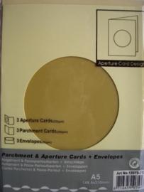 000122- 3 x standaard formaat dubbele kaarten + enveloppen
