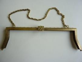 46- tasbeugel met ketting 32cm bronskleur