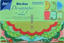 JOY8011/0501- 18 stuks Die-Cut design papers christmas 10.2x15.3cm