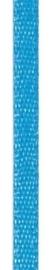 006302/0233- 4.5 meter satijnlint van 10mm breed op een rol blauw/turkoois