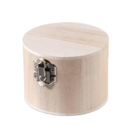 KN8735 417- 3 stuks houten kistjes met sluiting 9.5x7cm