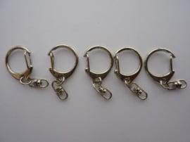 25 x clip sleutel clips van 22mm staalkleur -CH546-25- SUPERLAGE PRIJS!