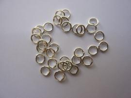 3.5mm enkele ringetjes 30 stuks verzilverd - SUPERLAGE PRIJS!- CN.JRS86306