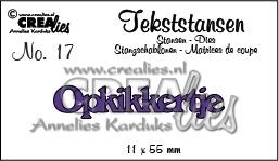 CE115634/3117- Crealies tekststans NO.17 opkikkertje 11x55mm