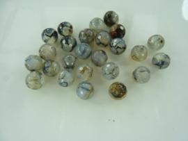3667- 25 stuks craqqle agaat kralen lichtgrijs 8mm gemstone