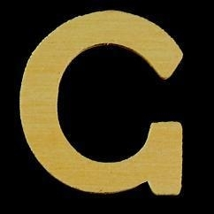 8735 608- 4cm houten letter C