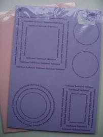 003061 - gefeliciteerd setje A4 lila/roze
