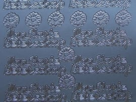 st 583- van harte beterschap zilver 10x20cm
