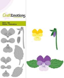 CE115633/0183- Craft Emotions Die 5x10cm viooltje
