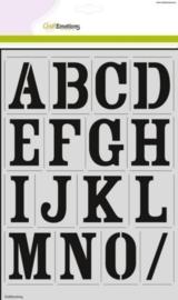 185070/2201- stencil alfabet vintage 2xA4