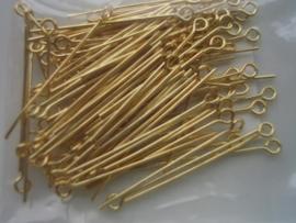 ca 100 x kettelstiften 32mm goud 10316-3202