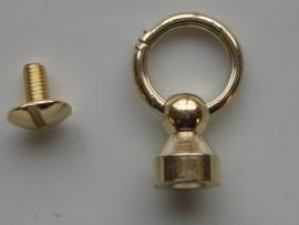 kart 16- doosknopje met ring en schroefje 8x13.5mm goudkleur