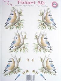 kn/462- A4 knipvel AANBIEDING foli art no.548 vogels