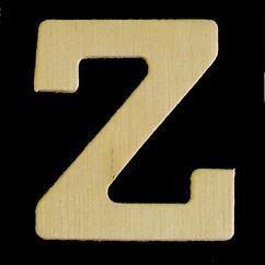 8735 633- 4cm houten letter Z