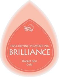 132019/1096- brilliance stempelkussen dew drops red gold 3.5x5cm