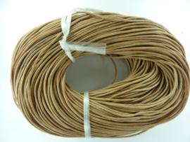 100 meter echt leren veter naturel van 2 mm. dik - AA kwaliteit - SUPERLAGE PRIJS!