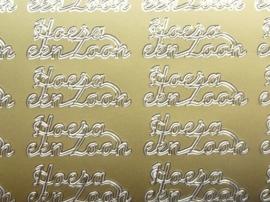 ST.1123- stickervel Hoera een zoon 10x23cm goud
