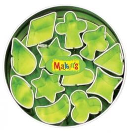 CE117918/7004- Makin`s clay uitstekerset in blik diverse mini vormen 12 stuks