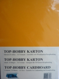 04- 20 vellen kaartkarton A5 formaat voor dubbele kaarten ca.225grams mandarijn