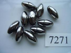 10 stuks licht metalen kralen van 15x7.5mm 7271