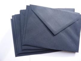 8138- 10 x enveloppen standaard formaat C6 16x11.5cm donkerblauw