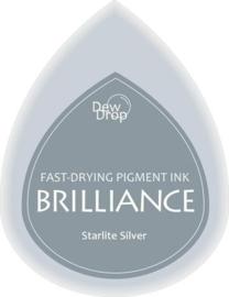 132019/1093- brilliance stempelkussen dew drops starlight silver 3.5x5cm