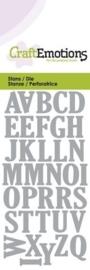 CE115633/0163- Craft Emotions Die 5x10cm hoofdletters alfabet