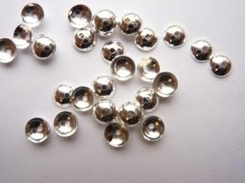 5mm kralenkapjes 20 stuks zilverkleur - SUPERLAGE PRIJS!- CN.052.20