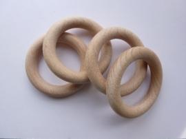 8597 707- blank houten (gordijn) ring 7cm doorsnee