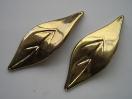 metallook hanger blad 56x21mm goudplated SUPEROPRUIMING