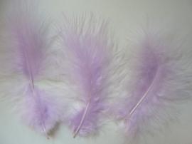 2506100-12- 8 stuks grote maraboe veren van 14-20cm lang lila