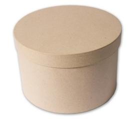 1929 2911- eco shape stevige decoratie ronde doos van papier mache 26.5x17cm