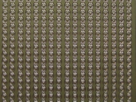 st 421- brede ketting randje goud 10x20cm
