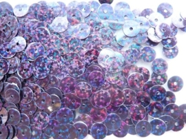 118372/459- 10gram gladde pailletten van 8mm in glitter zwart (grote hoeveelheid!)