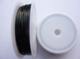 elastisch nylondraad 0.8mm zwart 10 meter - TH12237-3702